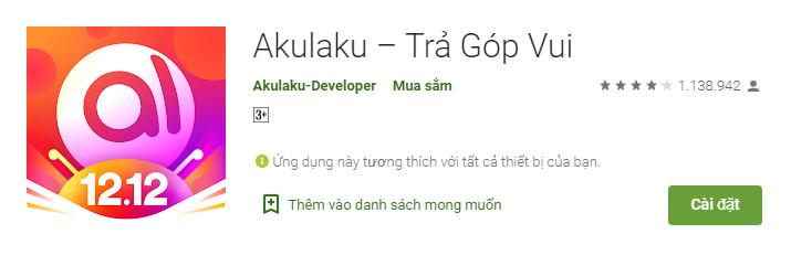 Akulaku - App, ứng dụng vay tiền online, mua sắm trả góp