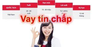 Cho Vay Tín Chấp Online lãi suất thấp uy tín nhất hiện nay